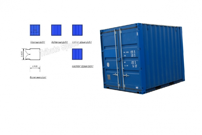 Container 8 ft. afm. 2,4 x 2,4m. TS-300