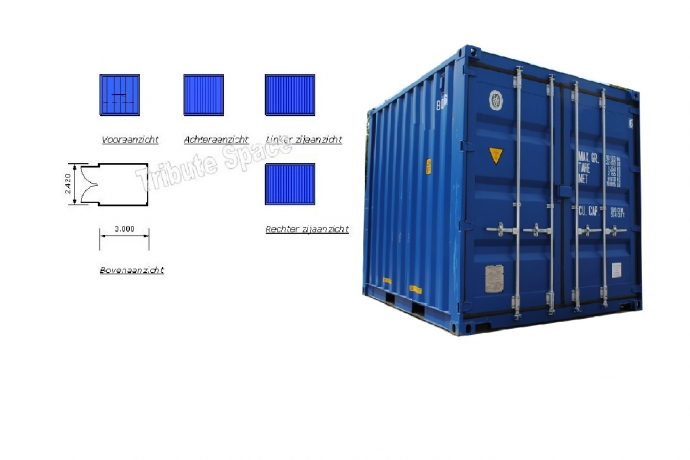 Container 10 ft. afm. 3 x 2,4m. TS-310